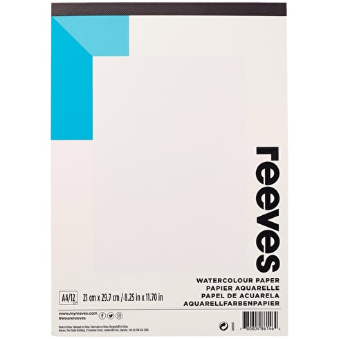 Reeves Watercolour Pad 190gsm 12 Sheets A4